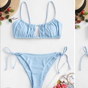 ZAFUL Ruched Tie Side Bikini (NEW)